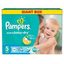 Active Baby-Dry, Pieluszki jednorazowe, rozmiar 5, Junior, 78 szt., Pampers