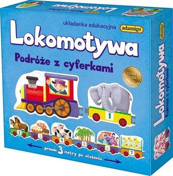 Adamigo, gra edukacyjna Lokomotywa Podróże z cyferkami-Adamigo