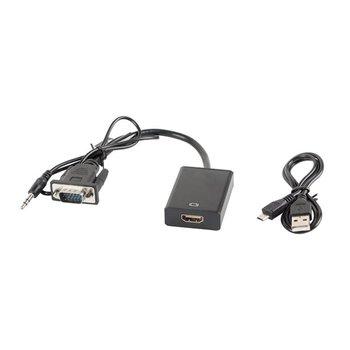 Adapter VGA + 3.5 mm miniJack - HDMI LANBERG-LANBERG