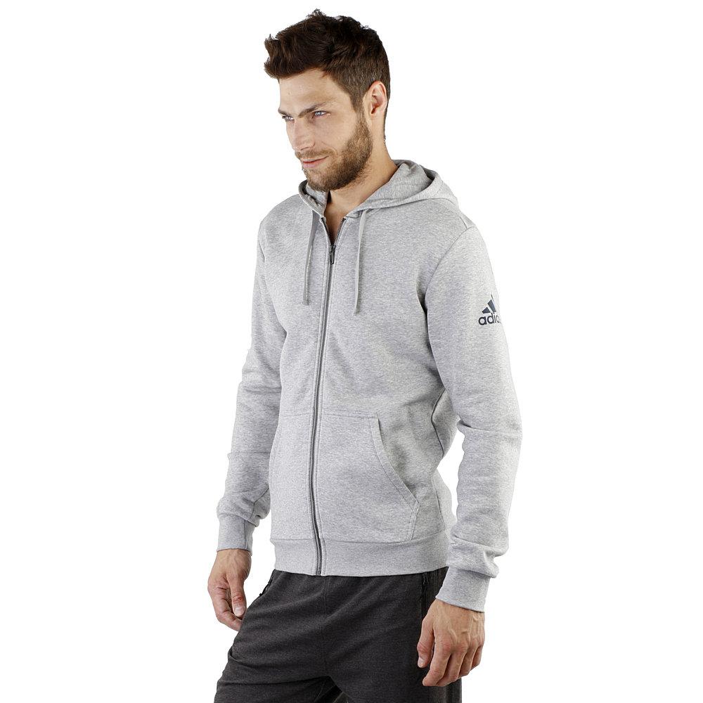 Bluza adidas Sport Essentials 3S Full Zip S szary