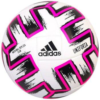 Adidas, Piłka nożna, Uniforia Euro 2020 Club FR8067, biało-różowy, rozmiar 4-Adidas