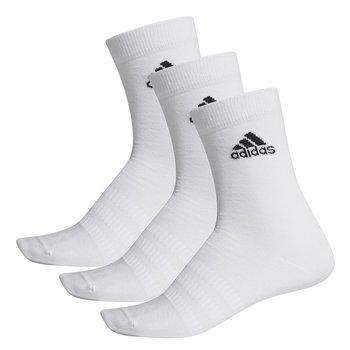Adidas, Skarpety sportowe, 3-pack, Light Crew 3PP DZ9393, biały, rozmiar 37/39-Adidas