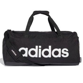 Adidas, Torba sportowa, Lin Duffle M FL3651, czarny, 56x28x22cm-Adidas