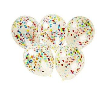 Ag624b balony lateksowe z konfetti, 5 sztuk-KidsToys
