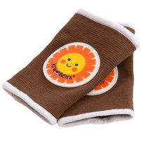Ah Goo Baby, Ochraniacze na kolana dla raczkujących niemowląt, Kneekers, brązowe słoneczka, pulchne kolanka