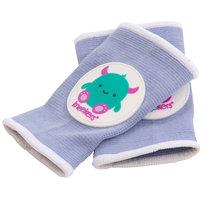 Ah Goo Baby, Ochraniacze na kolana dla raczkujących niemowląt, Kneekers, fioletowe potworki, pulchne nóżki