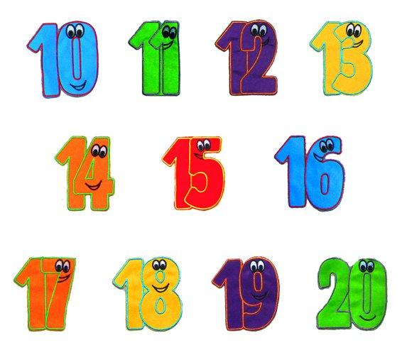 Akson, Dodatki do Chust Animacyjnych - cyfry od 10 do 20 - Akson