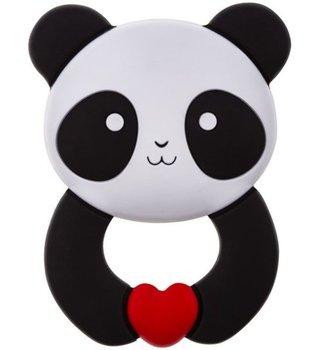 Akuku, Gryzak silikonowy, Panda, 0m+-Akuku