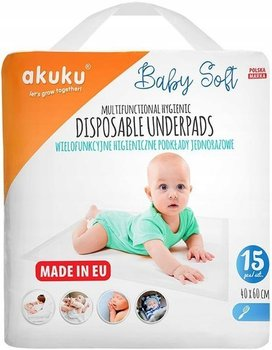 AKUKU Podkład Jednorazowy Baby Soft 40x60cm 15 szt.-Akuku