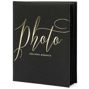 """Album na zdjęcia """"Precious Moments"""", czarny, 22 kartki-PartyDeco"""
