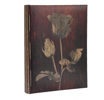 ALBUM szyty na 300 zdjęć 10x15 z opisem LEAF róża-LOTMAR