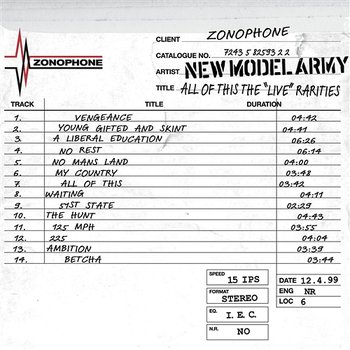 All Of This - The 'Live' Rarities - New Model Army