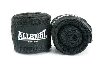 Allright, Bandaż bokserski, 3m, czarny-Allright