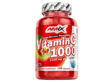 Amix, Suplement diety,  Vitamin C 1000 mg + Rose Hip, 100 kapsułek-Amix