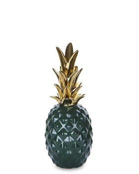 Ananas dekoracyjny PIGMEJKA, zielono-złoty, 27,5x11x11 cm-Pigmejka