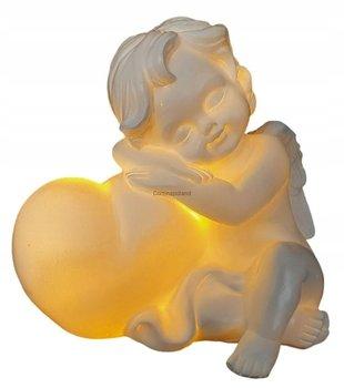 Aniołek podświetlany z sercem led 13cm - siedzący-CORTINA