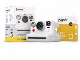 Aparat Natychmiastowy Polaroid Now + Wkład Papier / Biały