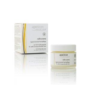 Apeiron, krem odżywczy na noc z Q10 i olejem z ogórecznika do skóry dojrzałej i suchej, 50 ml-Apeiron