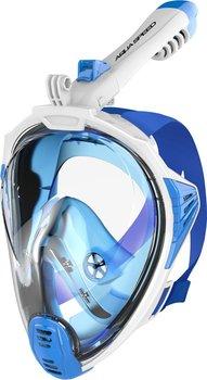 Aqua Speed, Maska do nurkowania pełnotwarzowa, biało-niebieska, rozmiar S/M-Aqua-Speed