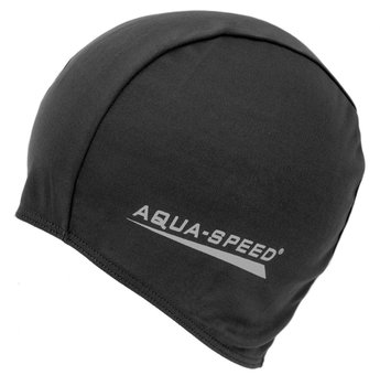AquaSpeed, Czepek pływacki, Polyester Cap, czarny-Aqua-Speed