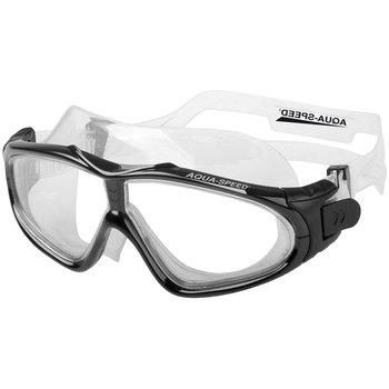 AquaSpeed, Gogle pływackie, Sirocco, czarne z jasnymi szkłami-Aqua-Speed