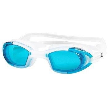AquaSpeed, Okulary pływackie, Marea, białe z jasnoniebieskimi szkłami-Aqua-Speed