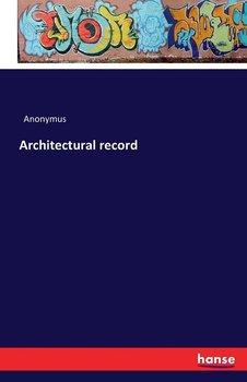 Architectural record-Anonymus