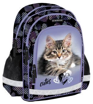 Argus, plecak szkolny, Kitty, czarno-fioletowy-Argus
