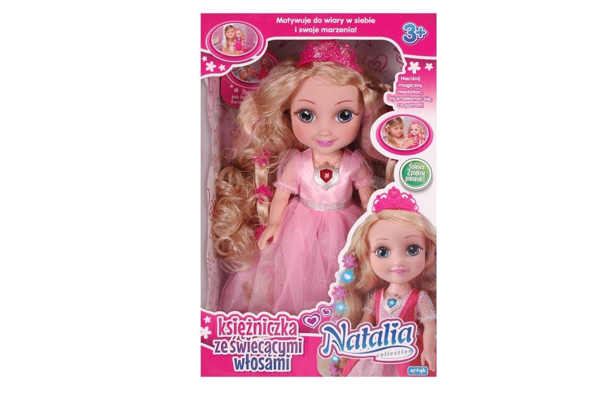 Artyk, lalka interaktywna Natalia Księżniczka ze świecącymi włosami - Natalia