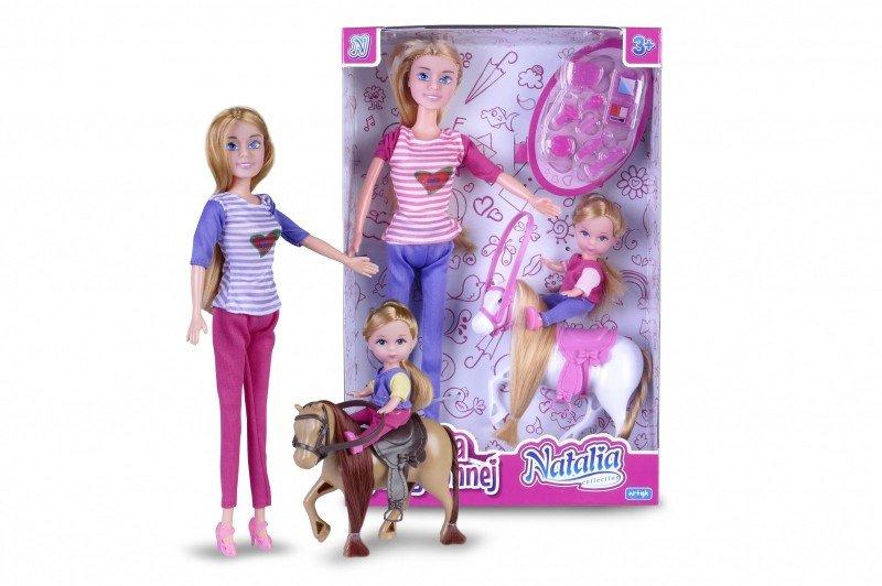 Artyk, lalka Natalia z dzieckiem i kucykiem - Artyk