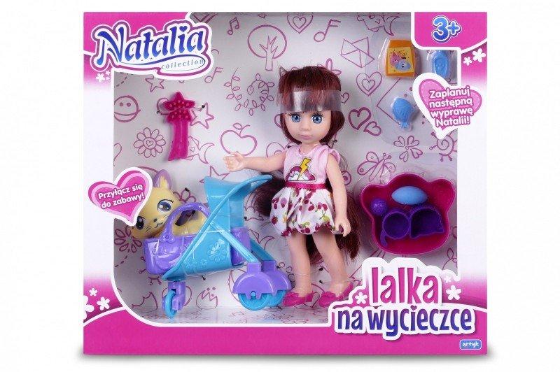 Artyk, lalka Natalia z kotkiem w wózku - Artyk