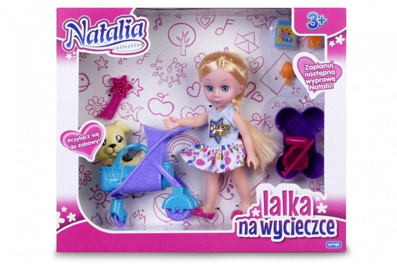 Artyk, lalka Natalia z pieskiem w wózku - Artyk
