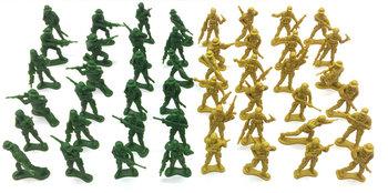 Askato, zestaw żółnierzyków plastikowych, 48 szt.-ASKATO