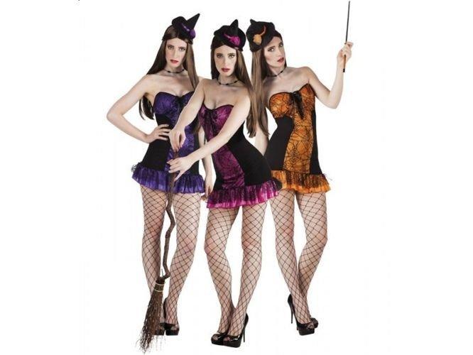 Aster, czarownica z pajęAster, czyną 3 kolory do wyboru stroje dla dorosłych - Aster