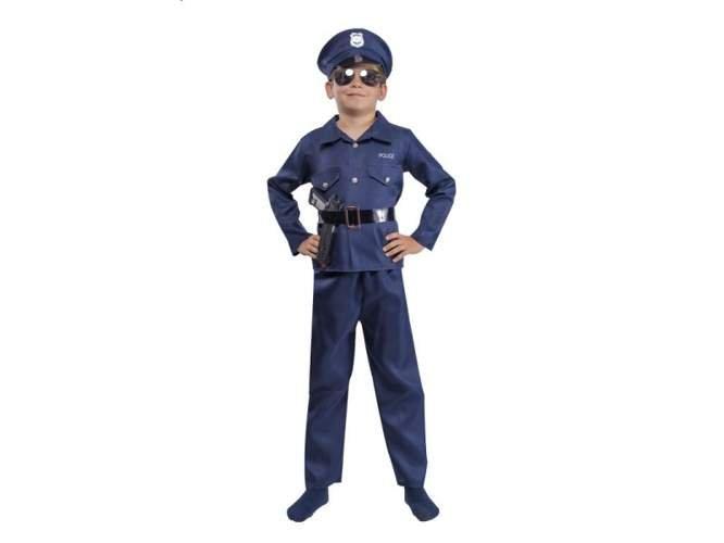 Aster,Policjant Aster, mundur, 122/128 cm - Aster