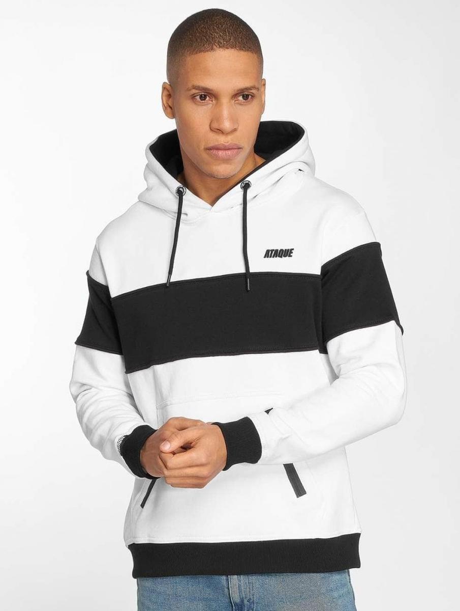Ataque, Bluza męska z kapturem Ferrol, biały, rozmiar 3XL