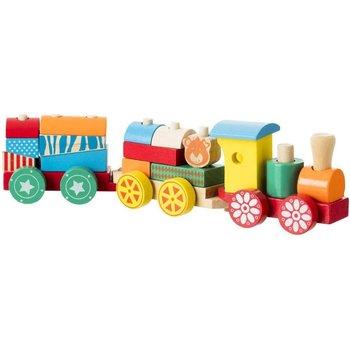 Atmosphera for kids, pociąg z klockami, drewniany-Atmosphera for kids