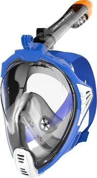 Auqa Speed, Maska do nurkowania pełnotwarzowa, rozmiar L/XL, czarno-niebieska-Aqua-Speed