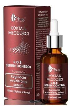 Ava, S.O.S. Sebum Control, koktajl młodości regulacjy wydzielanie sebum, 30 ml-AVA