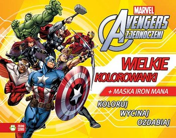 Avengers Zjednoczeni Wielkie Kolorowanki Maska Iron Mana