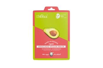 Avocado Vegan Mask- Regeneruje & Wzmacnia- w postaci Bio tkaniny-L'Biotica