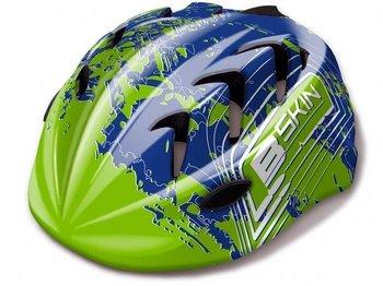 B-Skin, Kask rowerowy, Kiddy Pro, zielono-niebieski, rozmiar S-Vivo