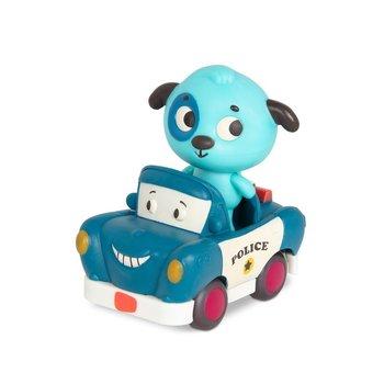 B. Toys, Miękkie autko sensoryczne z wesołym pasażerem – Land of B. Radiowóz z Pieskiem, 1+-B.Toys