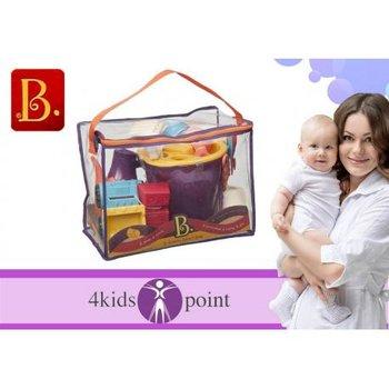 B.Toys, Zestaw akcesoriów plażowych w torbie pomarańczowy -B.Toys