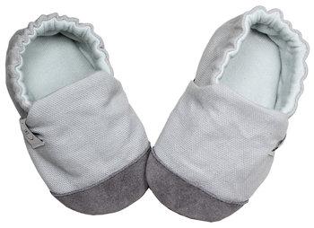 Baby Bisous, Kapcie dziecięce, Marble Grey, rozmiar 15-Baby Bisous