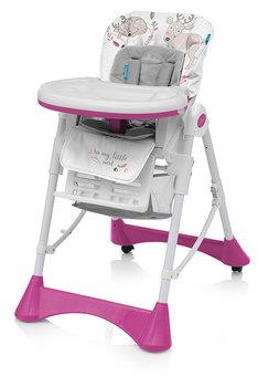 Baby Design, Krzesełko do Karmienia, PePe, 08 Różowe-Baby Design