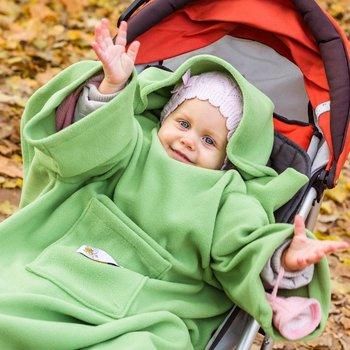 Baby Gadgets, Kocyk zimowy/Koc do wózka, fotelika, rękawy, Groszek-Baby Gadgets