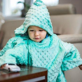 Baby Gadgets, Kocyk zimowy/Koc z rękawami, gruby, Miętowy, Minky-Baby Gadgets