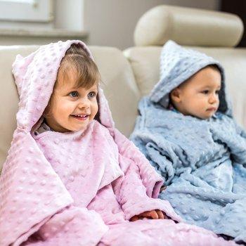 Baby Gadgets, Kocyk zimowy/Koc z rękawami, gruby, Różowy, Minky -Baby Gadgets