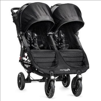 Baby Jogger, City Mini Double GT, Wózek bliźniaczy, Black/Black-Baby Jogger